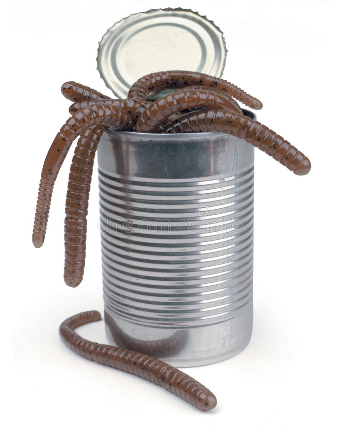 Can of worms stock photos