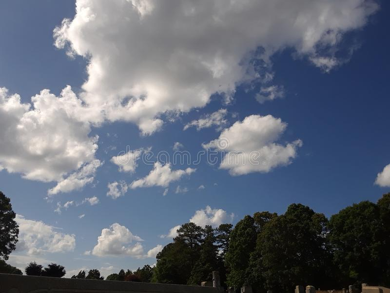 Clouds beautiful day royalty free stock photo