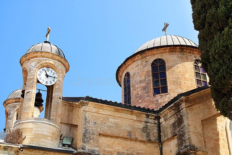 Cana东正教婚礼教会在内盖夫加利利的Cana 免版税库存照片