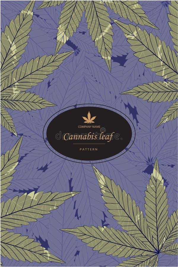 Canaabis o la marijuana deja el modelo en hoja de oro libre illustration