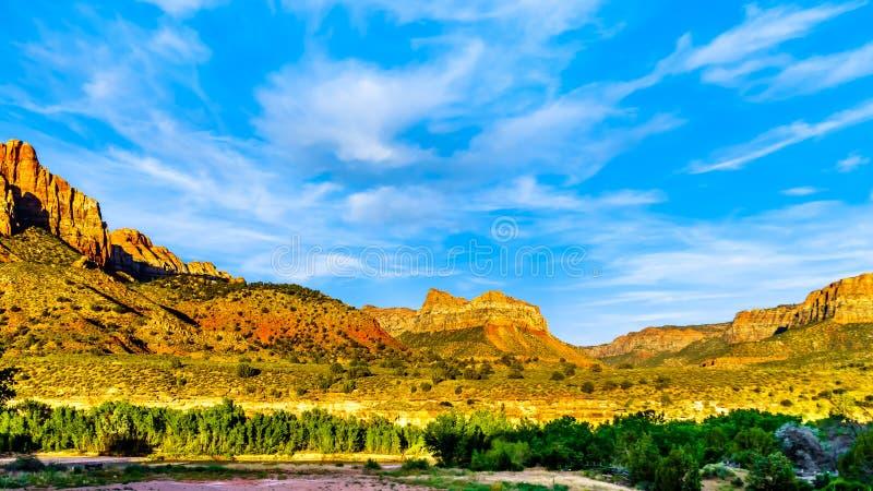 Canaan Mountain net ten zuiden van Zion National Park in Utah, VS stock foto's