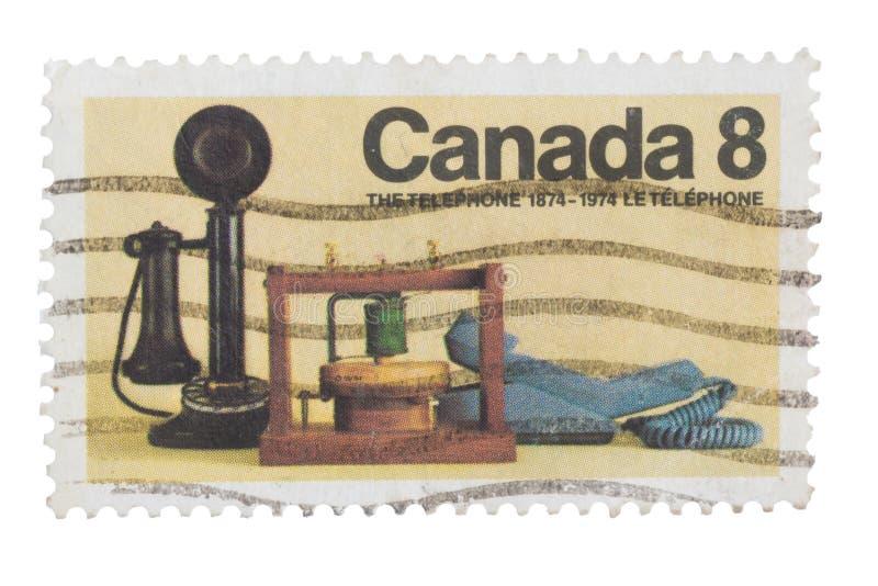 CANADÁ - CERCA DE 1974: Um selo imprimiu emitido dentro para os 10 imagem de stock royalty free