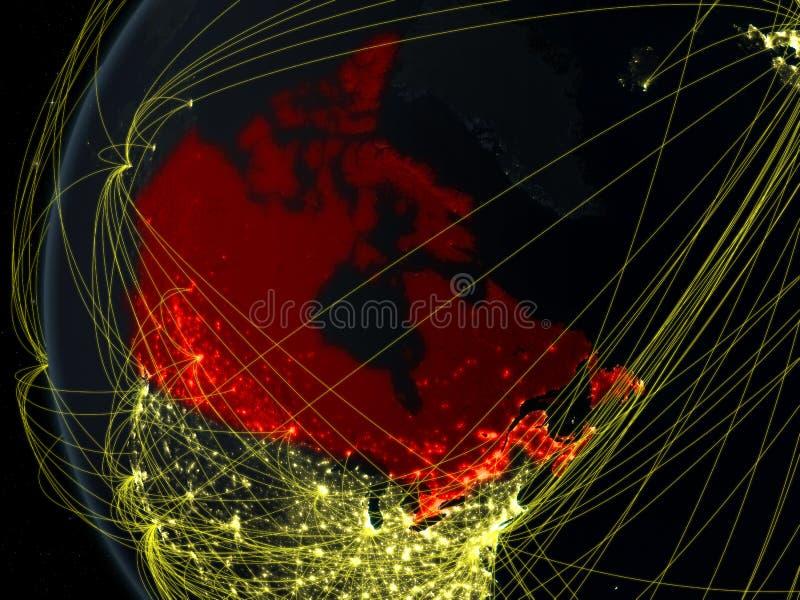 Canadá do espaço com rede fotos de stock