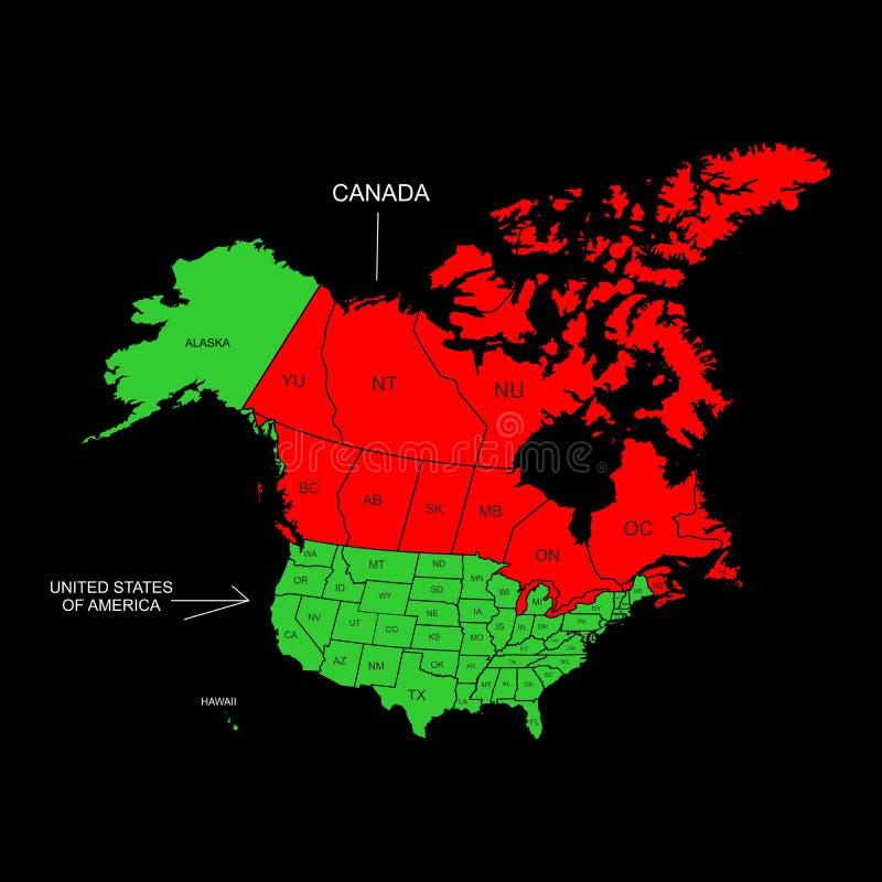 Canadá e EUA ilustração royalty free