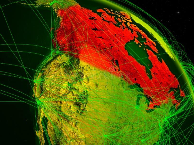 Canadá en el globo digital libre illustration