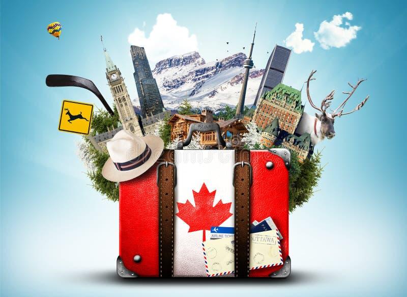 Canadá, mala de viagem retro fotos de stock