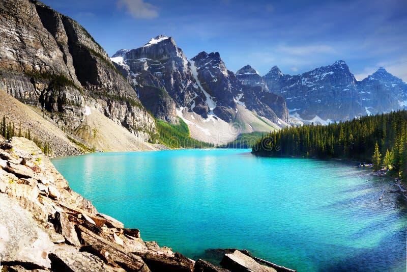 Canadá, paisaje de la naturaleza, parque nacional de Banff foto de archivo libre de regalías