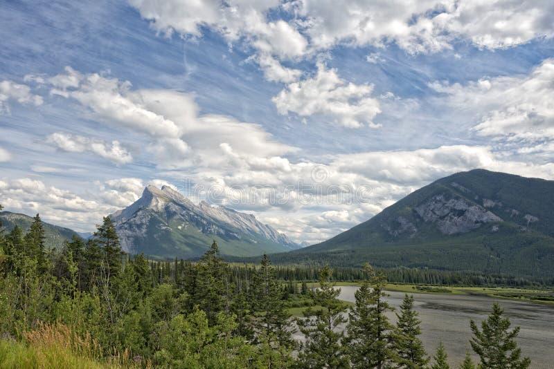 Canadá Rocky Mountains Panorama imagen de archivo
