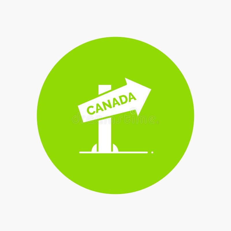 Canadá, sentido, lugar, sinal ilustração stock