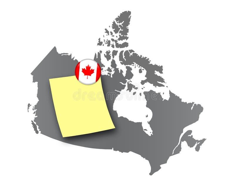 Canadá - tarjeta del Pin stock de ilustración