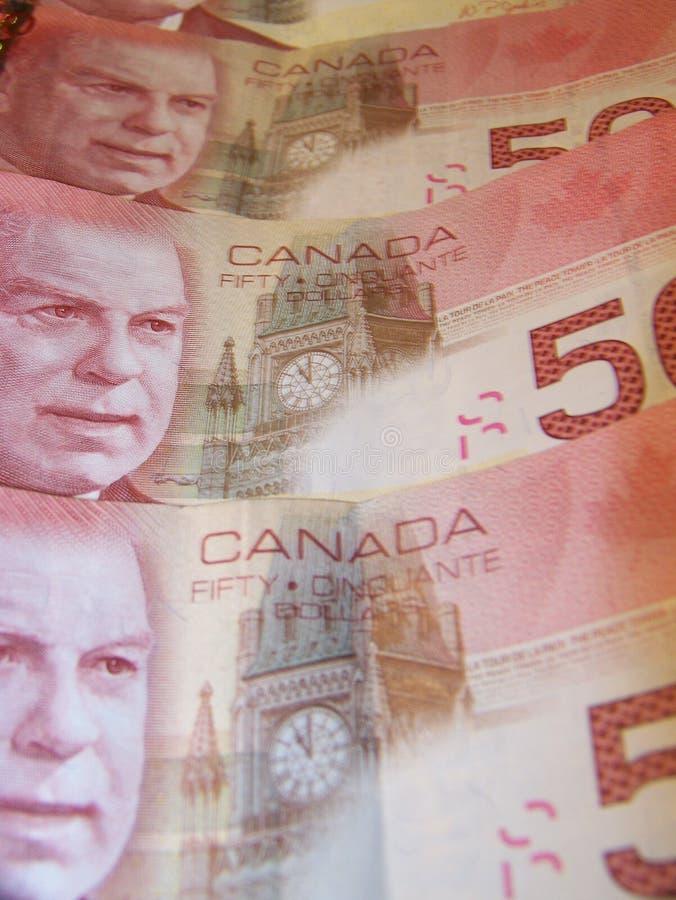 Canada $50 Bills Stock Images