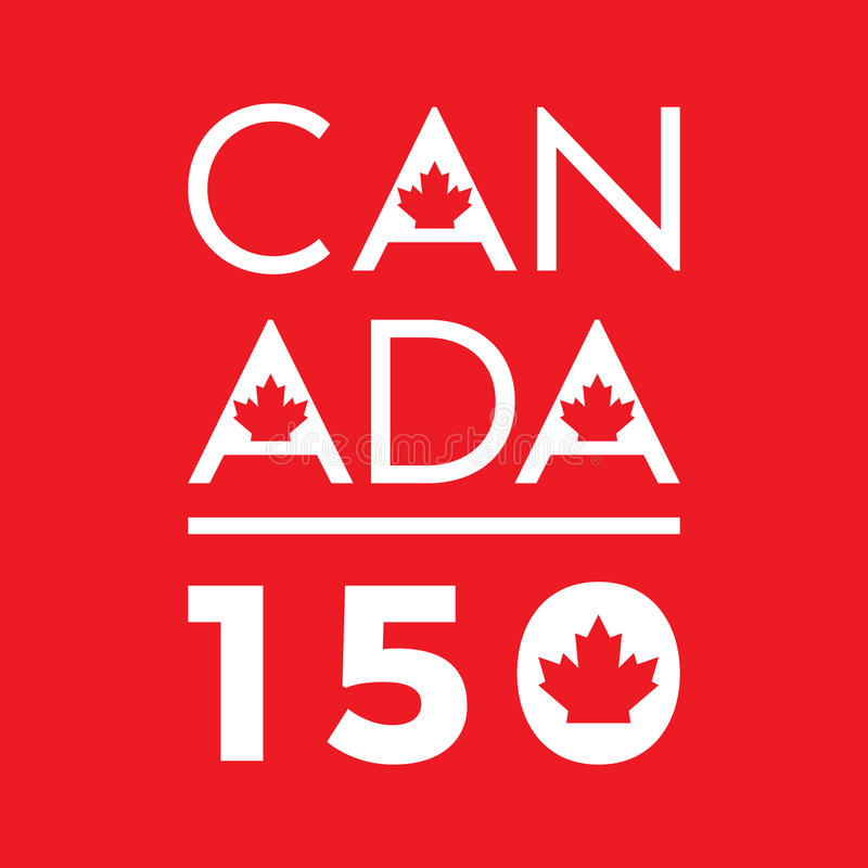 Canada 150 stock illustratie