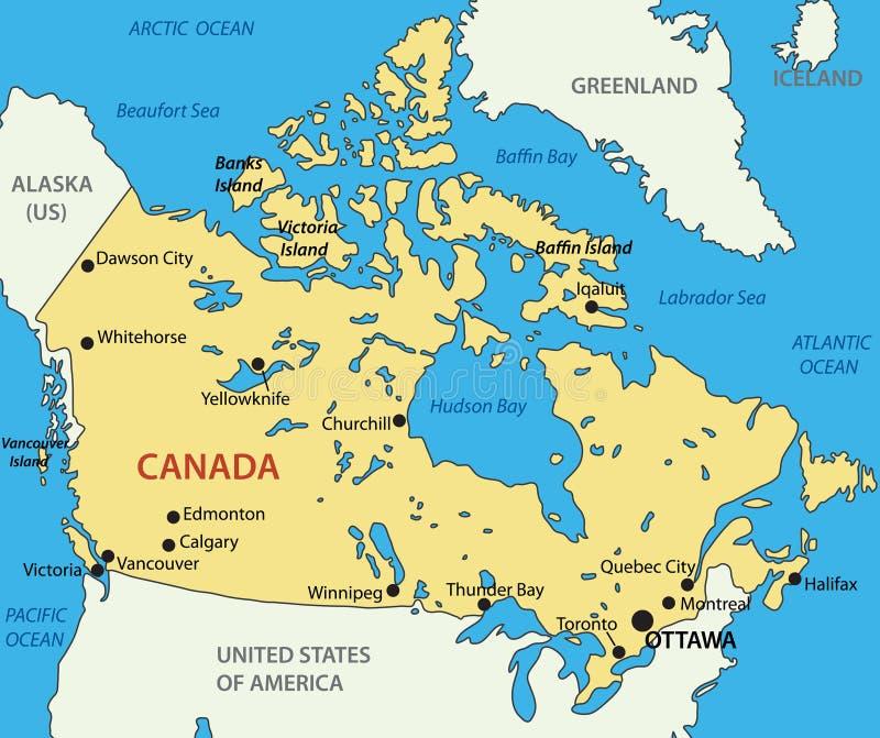 Canada - carte illustration libre de droits