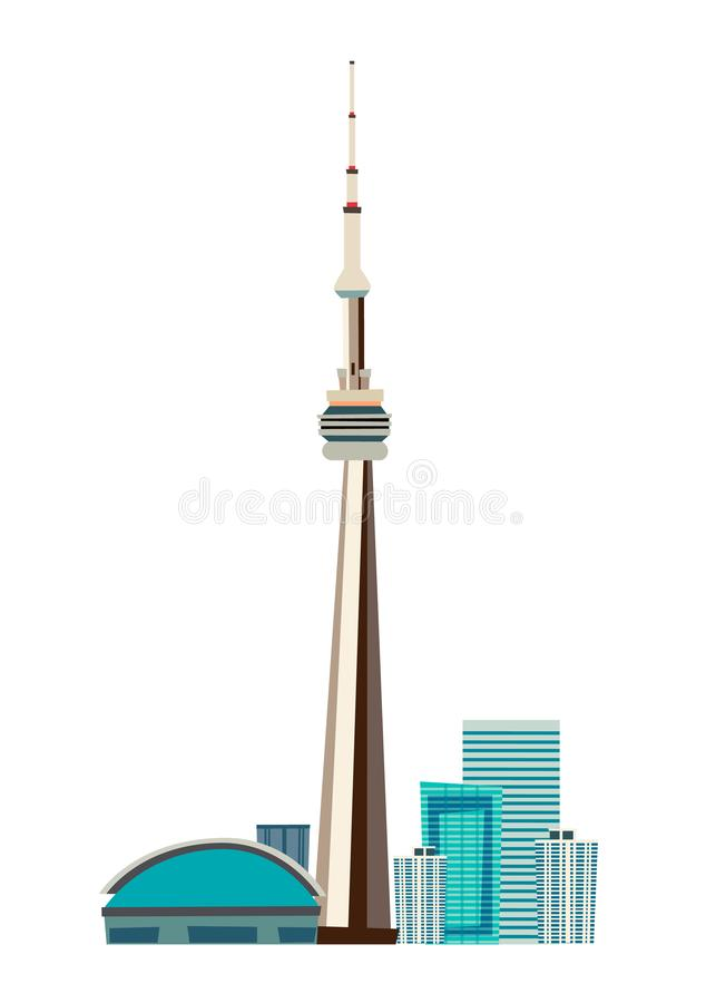 Canada city skyline vector dooddle illustration royalty free illustration