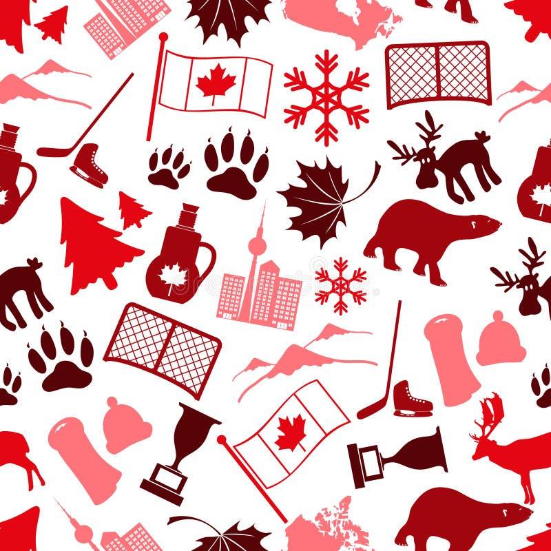 Canada Country Theme Symbols Stock Illustration ...