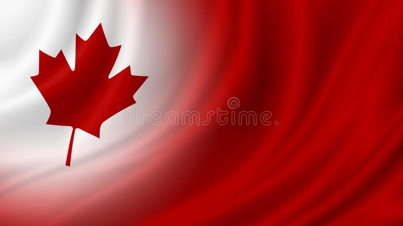 Canada day banner background design of flag with copy space royalty free illustration