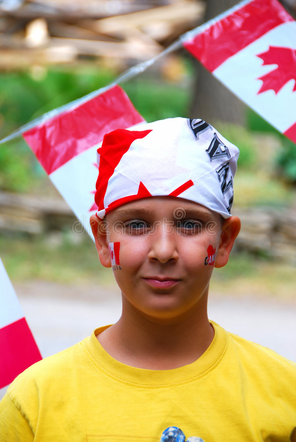 Canada Day Child royalty free stock photos