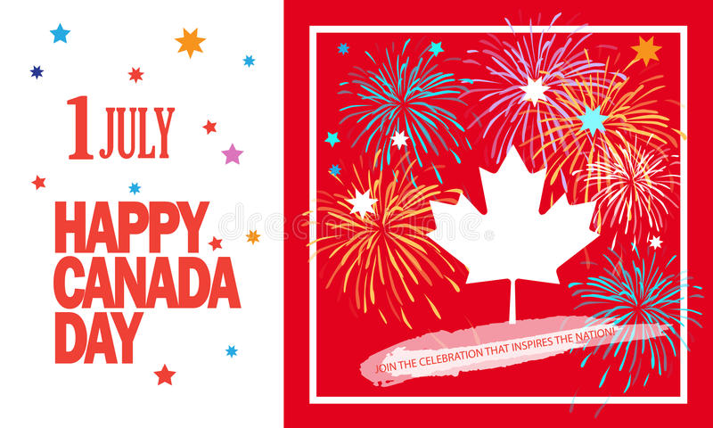 Canada Day 1 July vector illustration