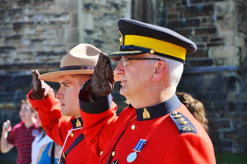 Canada Day RCMP solute stock image