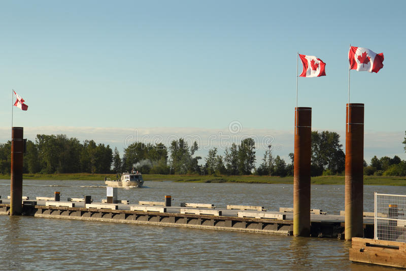 Canada Day, Steveston Harbor stock photography