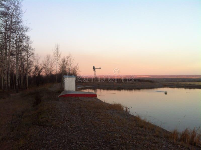Canada de Colombie-Britannique de paysage de ferme photo stock
