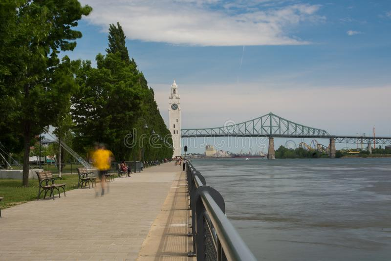 Canada de Montréal de vieux port de tour d'horloge photographie stock libre de droits