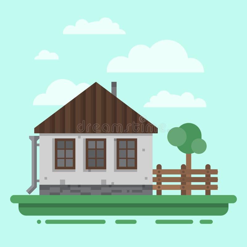 canada dom na wsi ulica Toronto ilustracja wektor