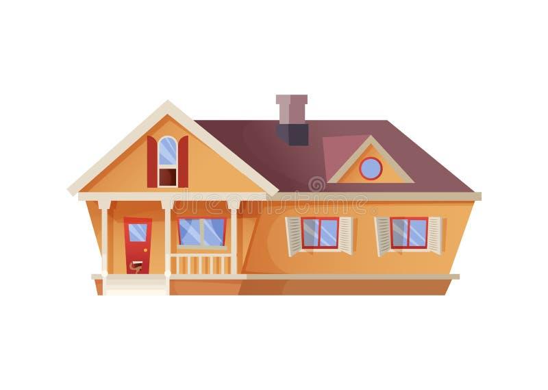 canada dom na wsi ulica Toronto farmhouse Rolnika dom Kreskówki stylowy illstration ilustracja wektor