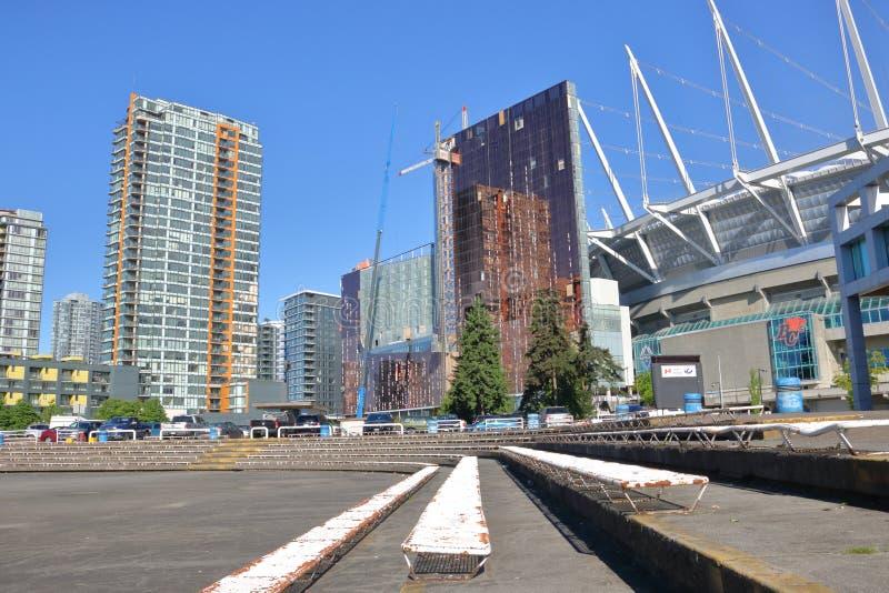 Canada et architecture du centre de Vancouver image libre de droits