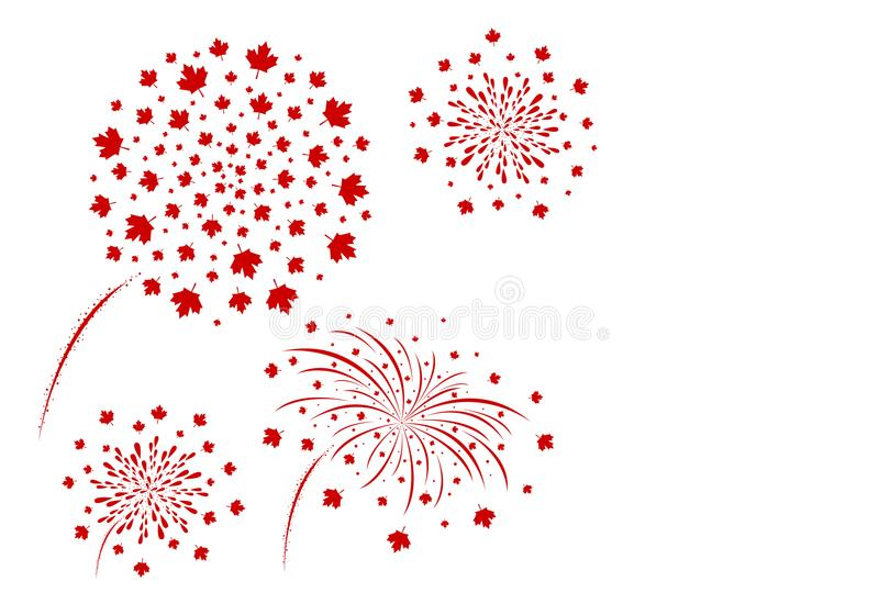 Canada fireworks design isolated on white background vector vector illustration