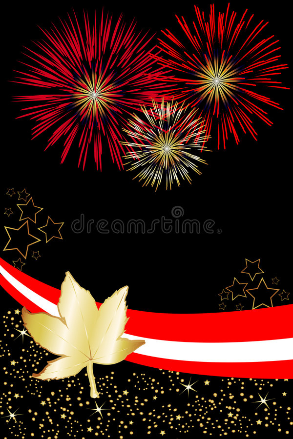 Canada Fireworks Poster royalty free stock images