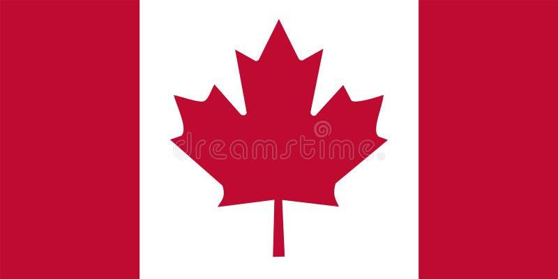 Canada flag stock illustration