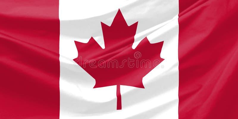 Canada Flag. Wavy and realistic Canada Flag
