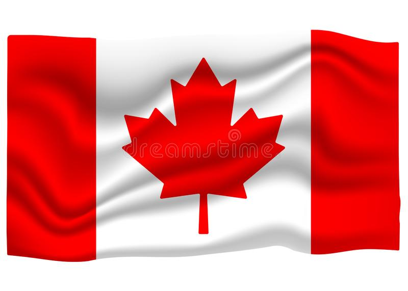 Canada Flag Icon. National Flag Banner. Cartoon Vector illustration.  royalty free illustration