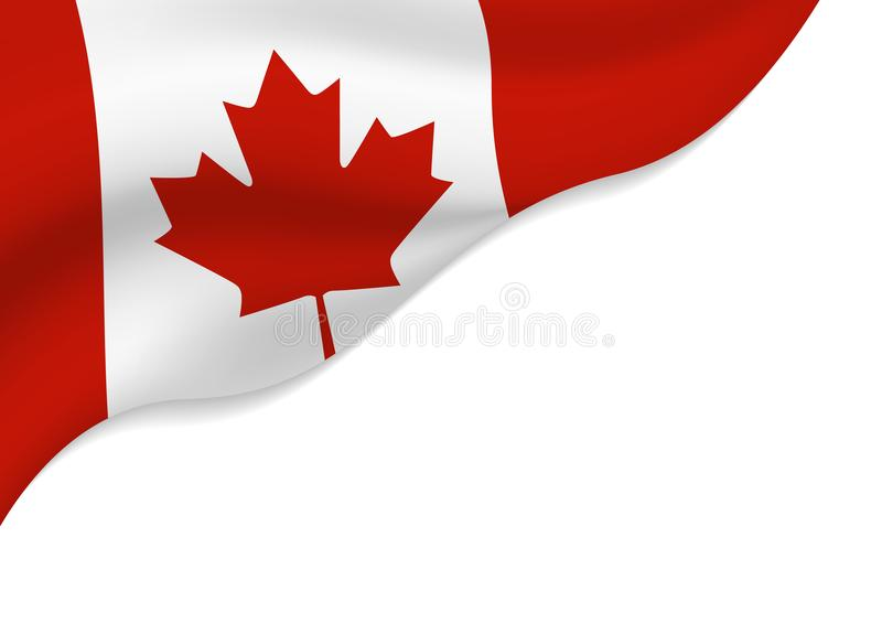 Canada flag isolated on white background with copy space. Vector illustration stock illustration