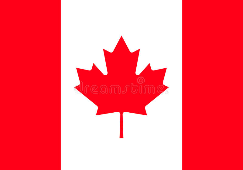 Canada flag, official colors and proportion correctly. High detailed vector flag of Canada. vector illustration