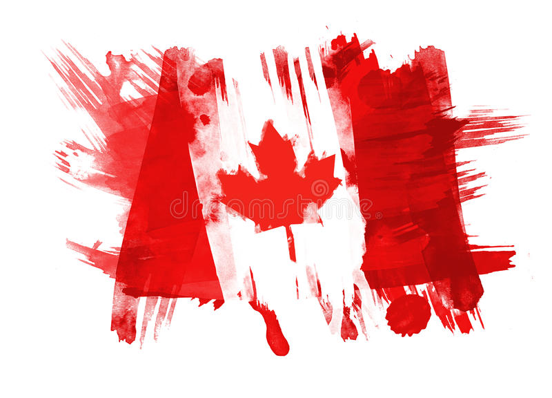 Download Canada Flag painted stock illustration. Image of brush - 14850475