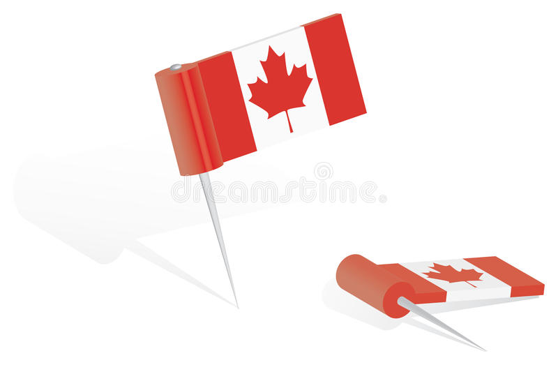 Canada Flag Push-pin Stock Photos