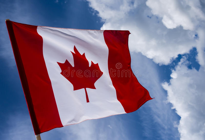 canada flaga zdjęcie stock