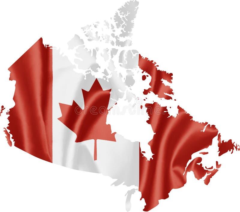 canada flaga mapa royalty ilustracja