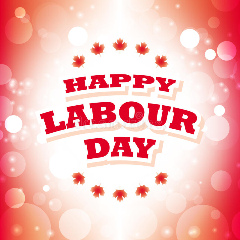 Canada happy labour day vector illustration