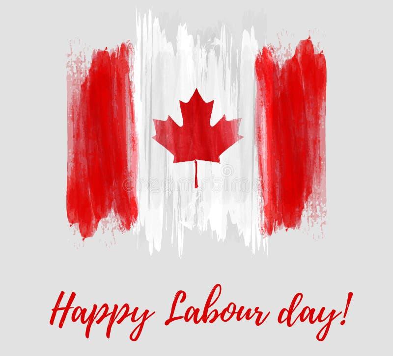 Canada Happy Labour day stock illustration