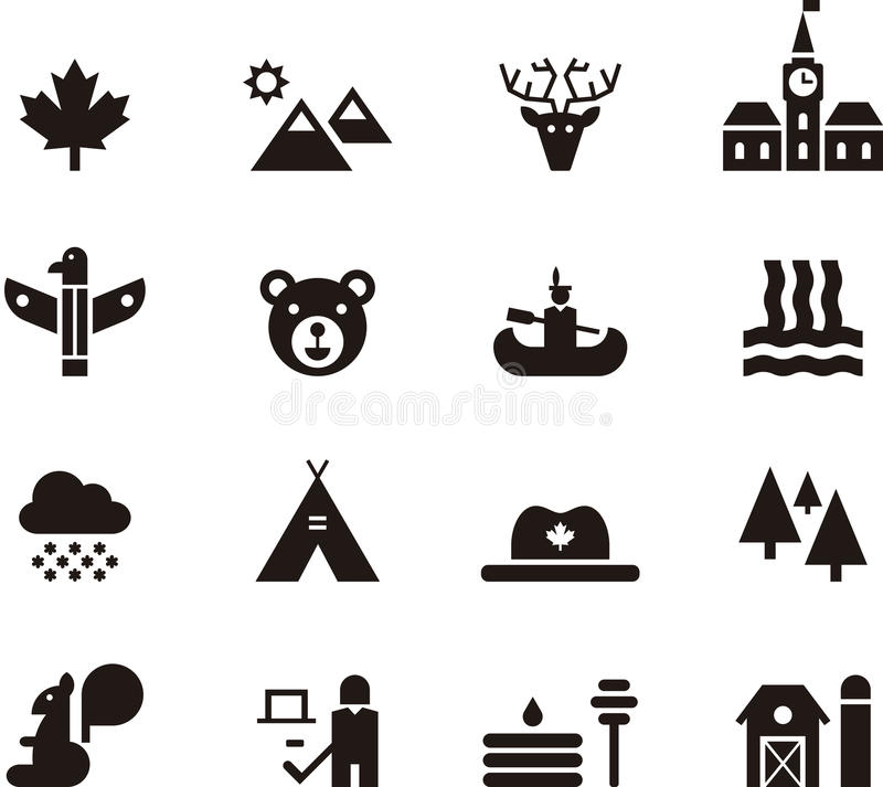 Canada icon set royalty free illustration