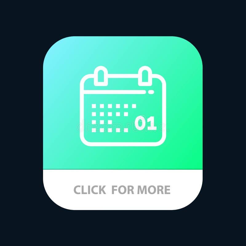 Canada, Kalender, Datum, de Knoop van de Dagmobiele toepassing Android en IOS Lijnversie stock illustratie