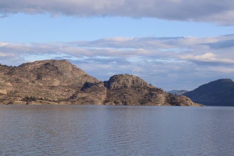 Canada lake and mountains postcard- Okanagan Valley, BC tourism royalty free stock photos