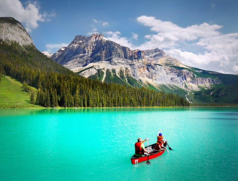 Canada Landscape Mountains Emerald Lake royalty free stock photo
