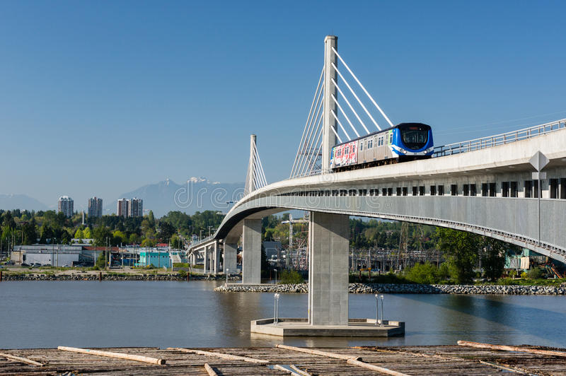 Canada Line Bridge stock photography