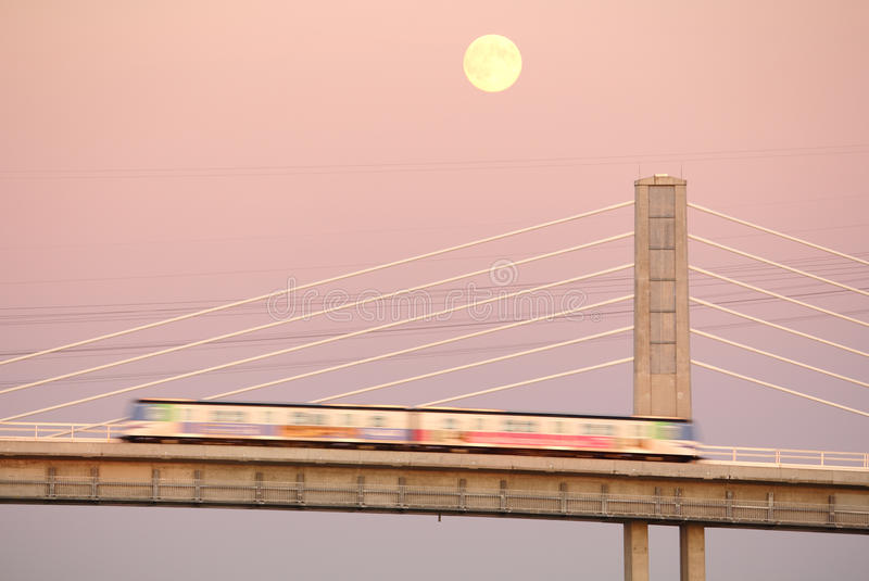 Download Canada Line Moonrise, Vancouver Stock Image - Image: 21911921