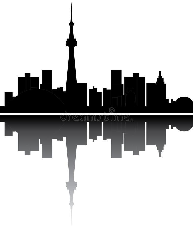 canada linia horyzontu Toronto ilustracji