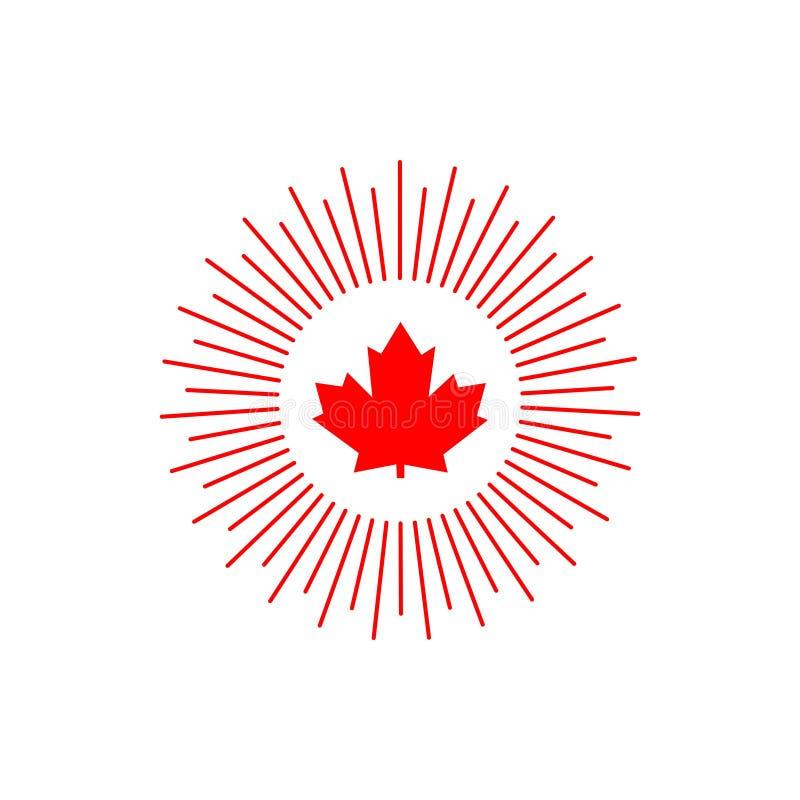 Canada Logo Vector Template Design Illustration stock illustratie
